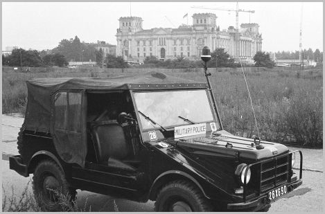 RMP DKW 'Mungy' Patrol Vehicle with Reichstag in background 1966